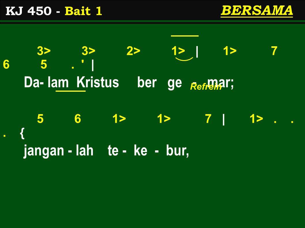 5 5 1> 1>   1> 7 6 5.   Ber- te - kun ber - syu- kur - lah 5 5 3> 3>   2> 1> 7 1> 2>.