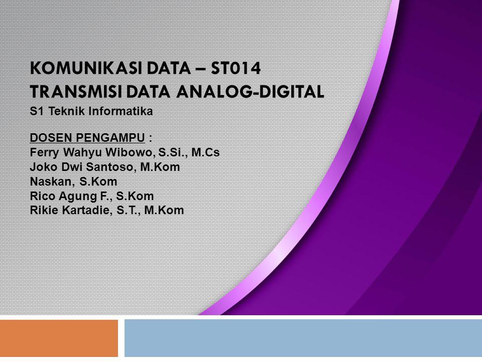 Elektromagnetic Spread Spectrum Komunikasi Data - S1 Teknik Informatika (ST014) 12