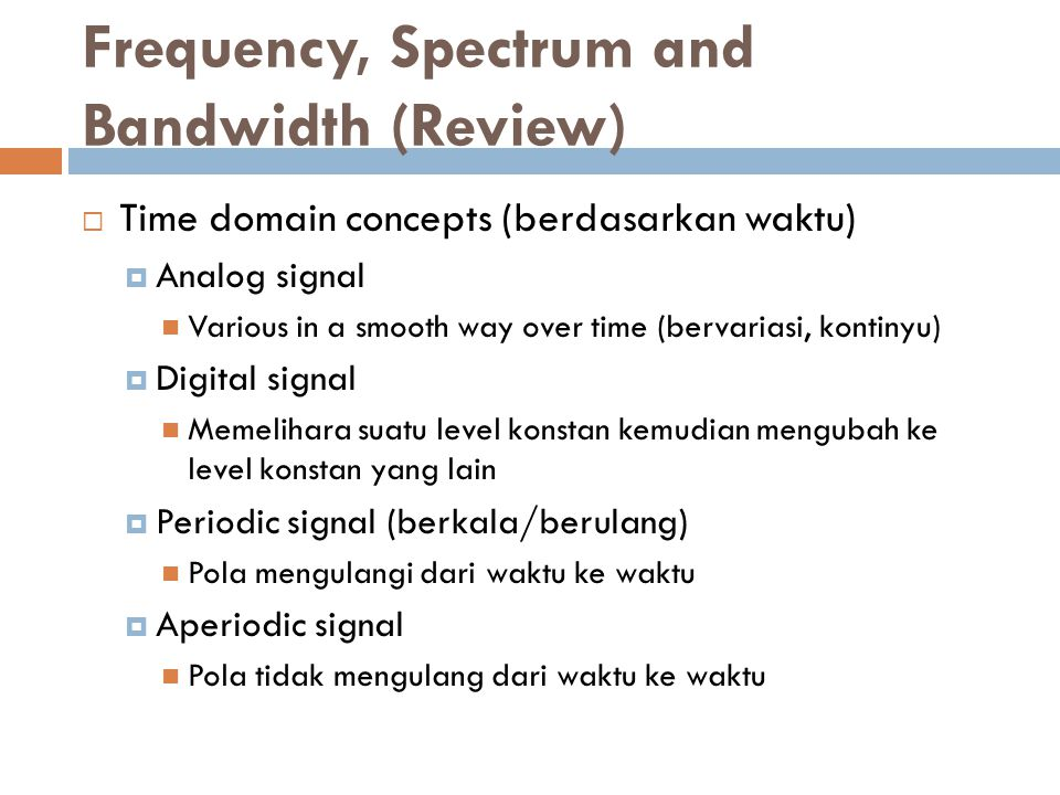 Analogue & Digital Signals
