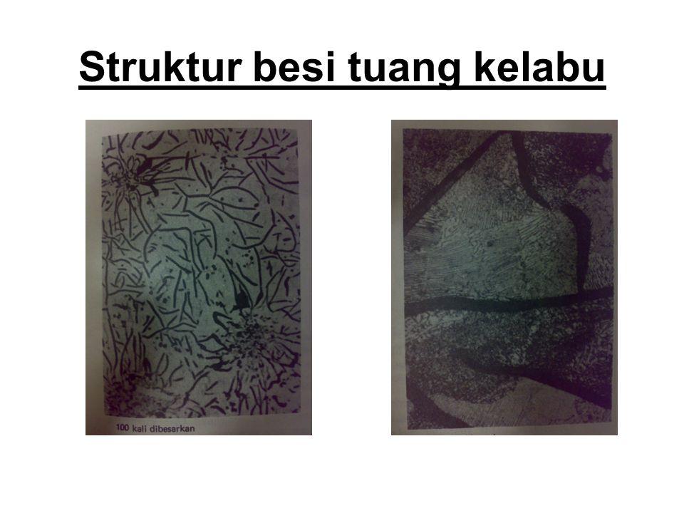 Struktur besi tuang kelabu