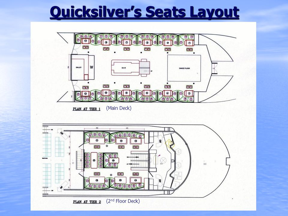 Quicksilver's Seats Layout (Main Deck) (2 nd Floor Deck)