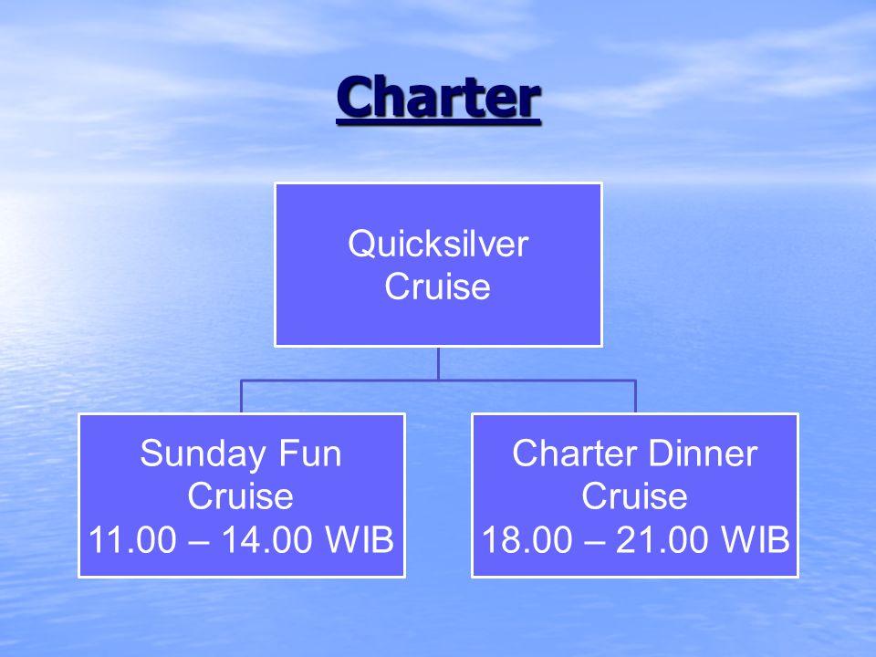 Regular Charter Program carter standard dengan kapasitas maks.