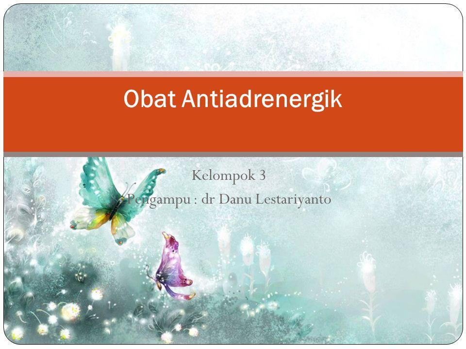 Kelompok 3 Pengampu : dr Danu Lestariyanto Obat Antiadrenergik
