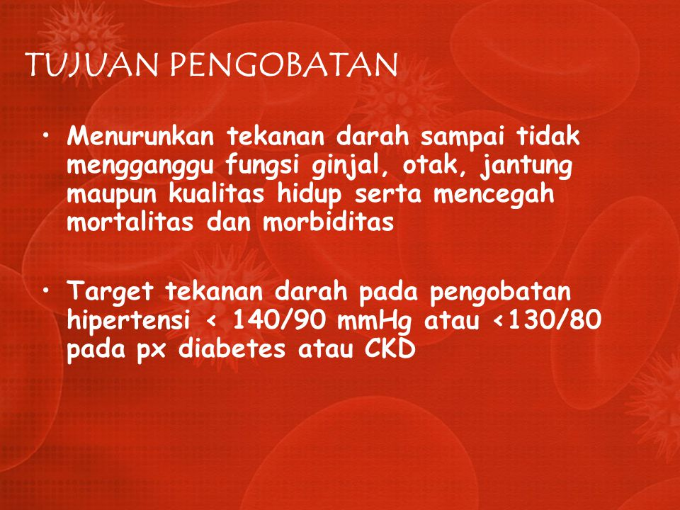 Monitoring Obat Antihipertensi ClassParameter Diuretics ACEI, ARB & Aldosteron antagonis CCBs & Β Blocker BP, BUN/SCr, elektrolyt K, Mg, Na, uric acid (thiazid) BP, BUN/SCr, Potassium serum BP, heart rate