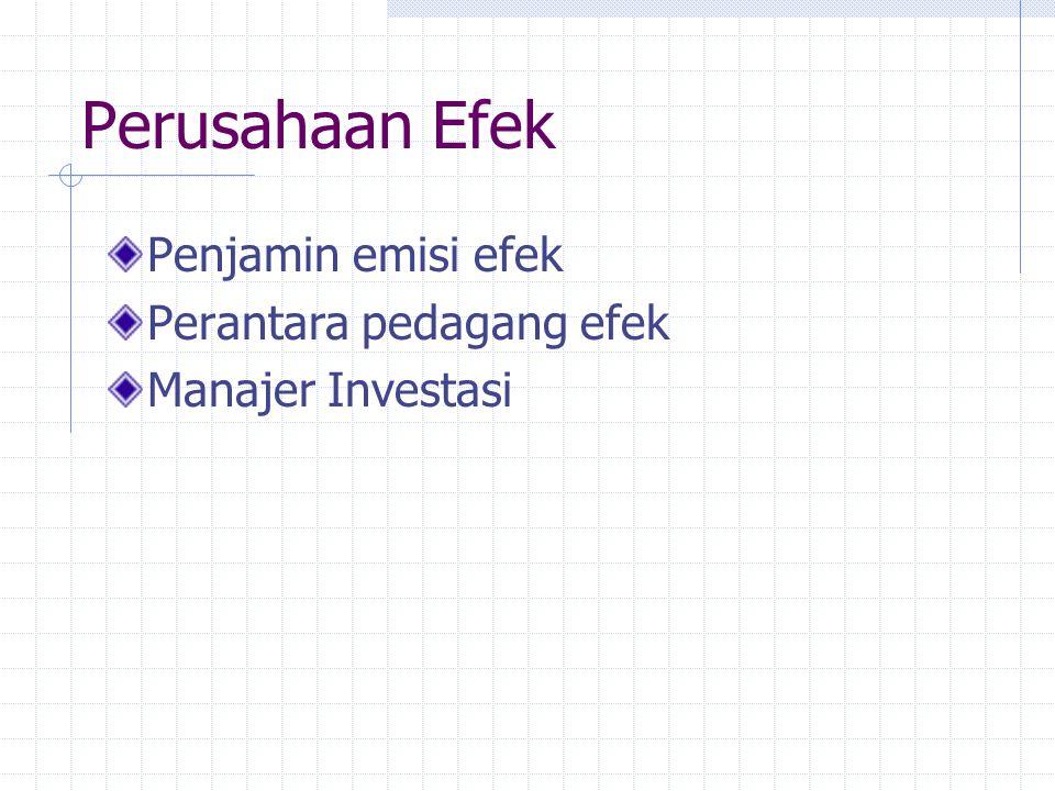 Perusahaan Efek Penjamin emisi efek Perantara pedagang efek Manajer Investasi