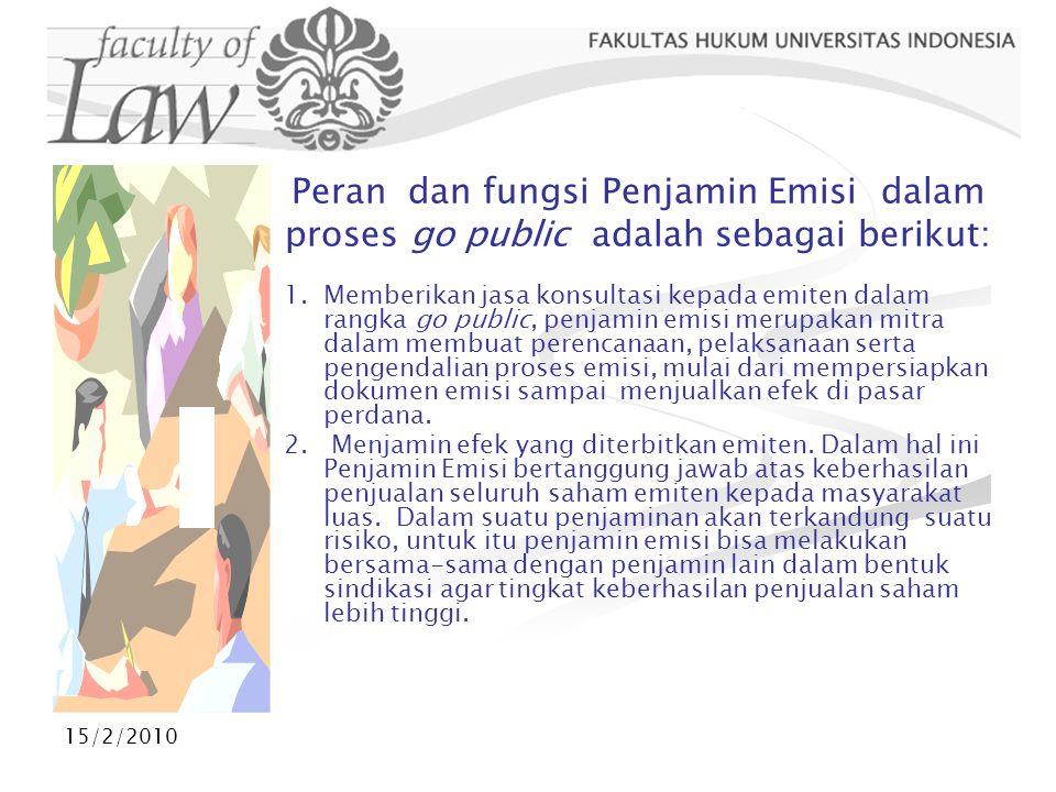 15/2/2010 INDEKS LQ 45  Adalah Indeks atas 45 emiten yang tercatat di BEJ dengan tolok ukur likuiditas dan nilai kapitalisasi pasar.