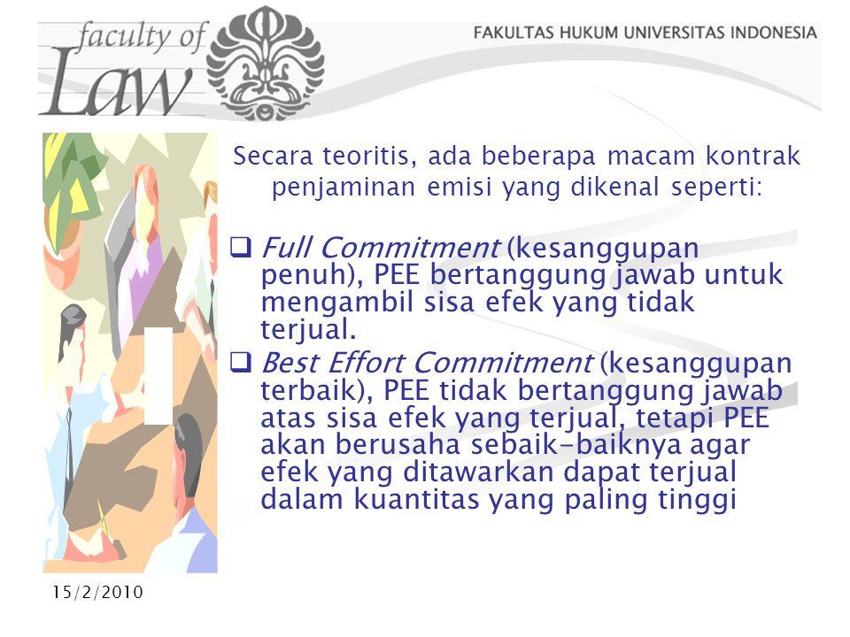 15/2/2010 INSTRUMEN PASAR MODAL Arti efek menurut UUPM pasal 1 angka 5 adalah: surat berharga, yaitu surat pengakuan utang, surat berharga komersial, saham, obligasi, tanda bukti utang.