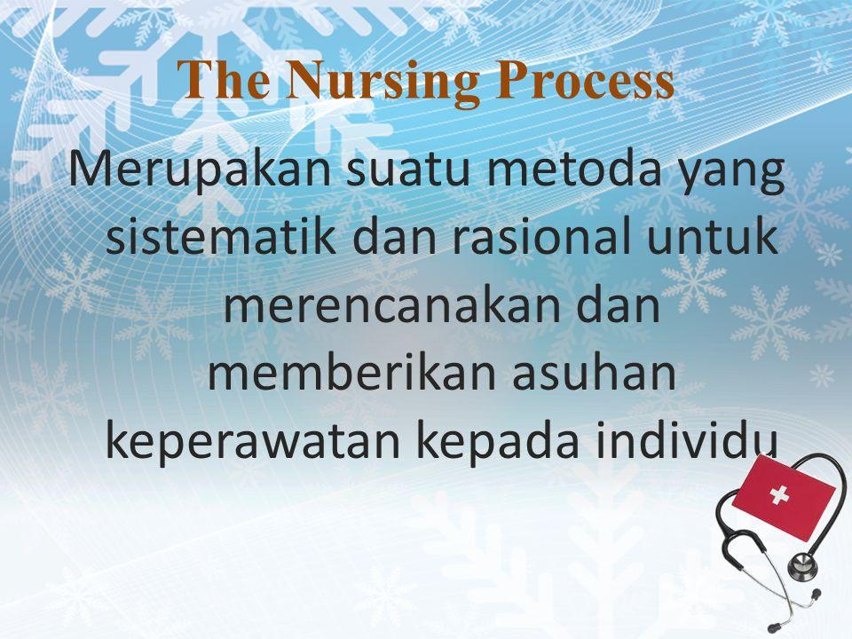 The Nursing Process Merupakan suatu metoda yang sistematik dan rasional untuk merencanakan dan memberikan asuhan keperawatan kepada individu
