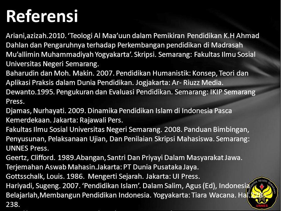 Referensi Ariani,azizah.2010.
