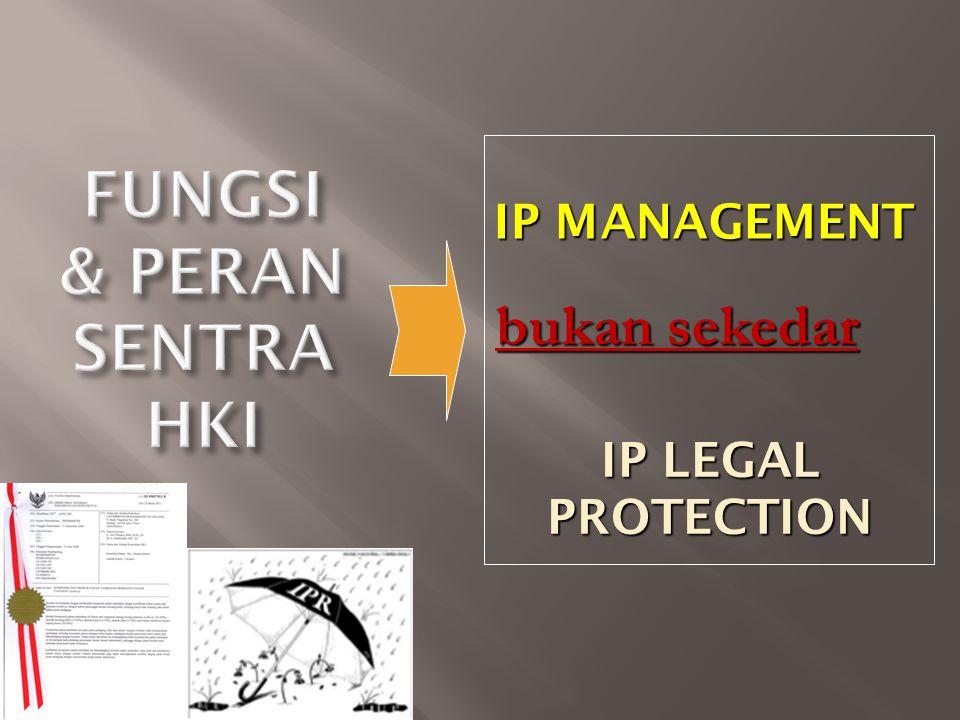 IP MANAGEMENT bukan sekedar IP LEGAL PROTECTION