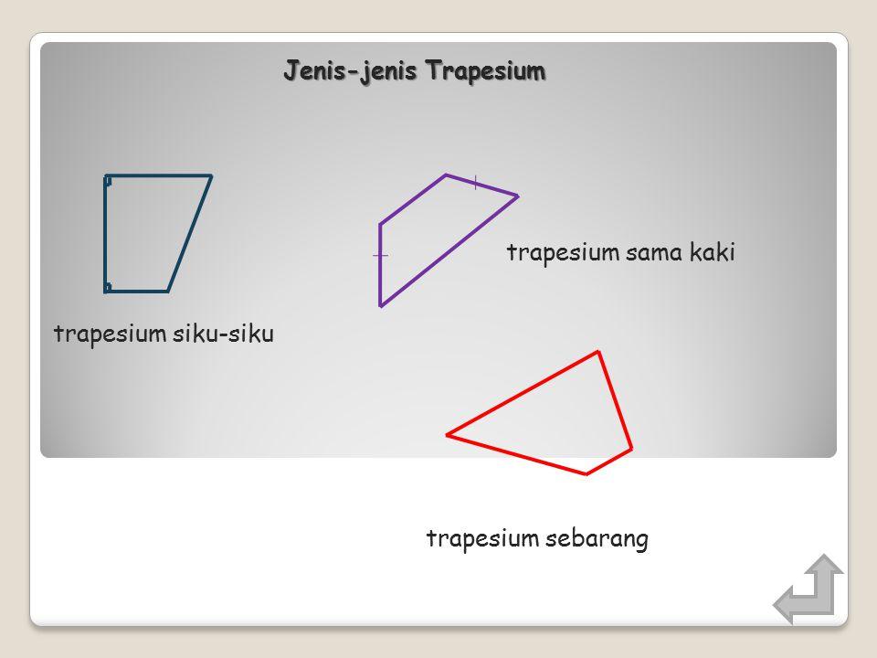 Trapesium adalah segi empat yang memiliki sepasang sisi yang berhadapan sejajar