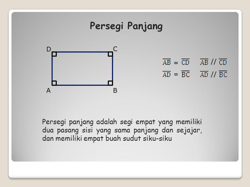 Layang-layang adalah segi empat yang dibentuk dari gabungan dua buah segitiga sama kaki yang alasnya sama panjang dan berimpit A BD C E F C