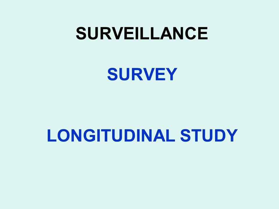SURVEILLANCE SURVEY LONGITUDINAL STUDY