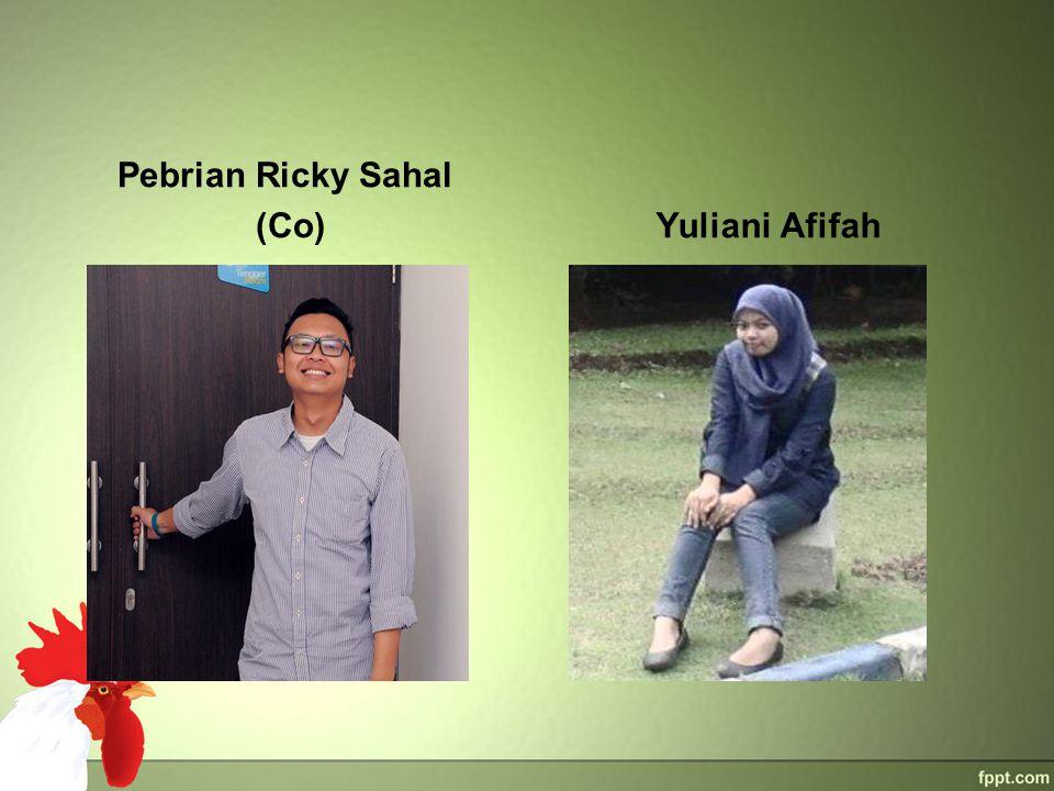 Pebrian Ricky Sahal (Co)Yuliani Afifah