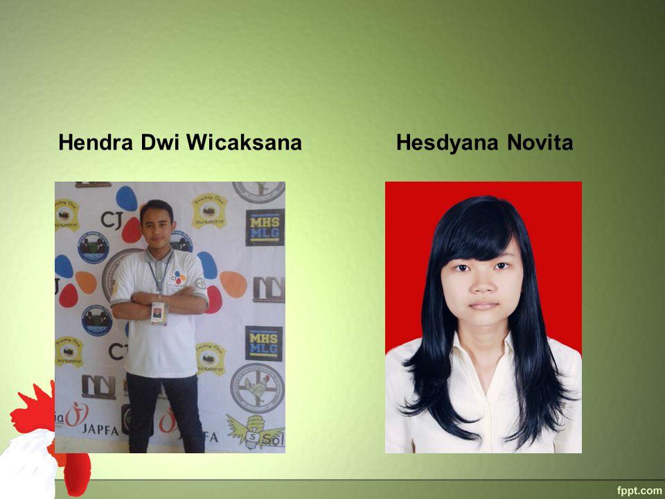 Hendra Dwi WicaksanaHesdyana Novita