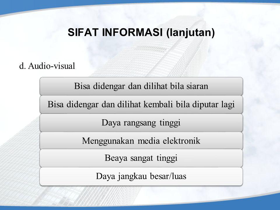 SIFAT INFORMASI (lanjutan) d.