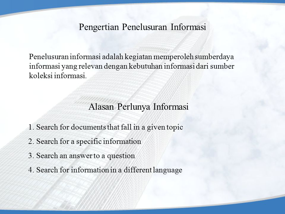 15 INFORMATION RESOURCES 1.Persons as general 2.Experts (professionals) 3.Milling lists (discussion group) 4.Researchers 5.Printed materials 6.Libraries 7.Bookshops 8.Publishers