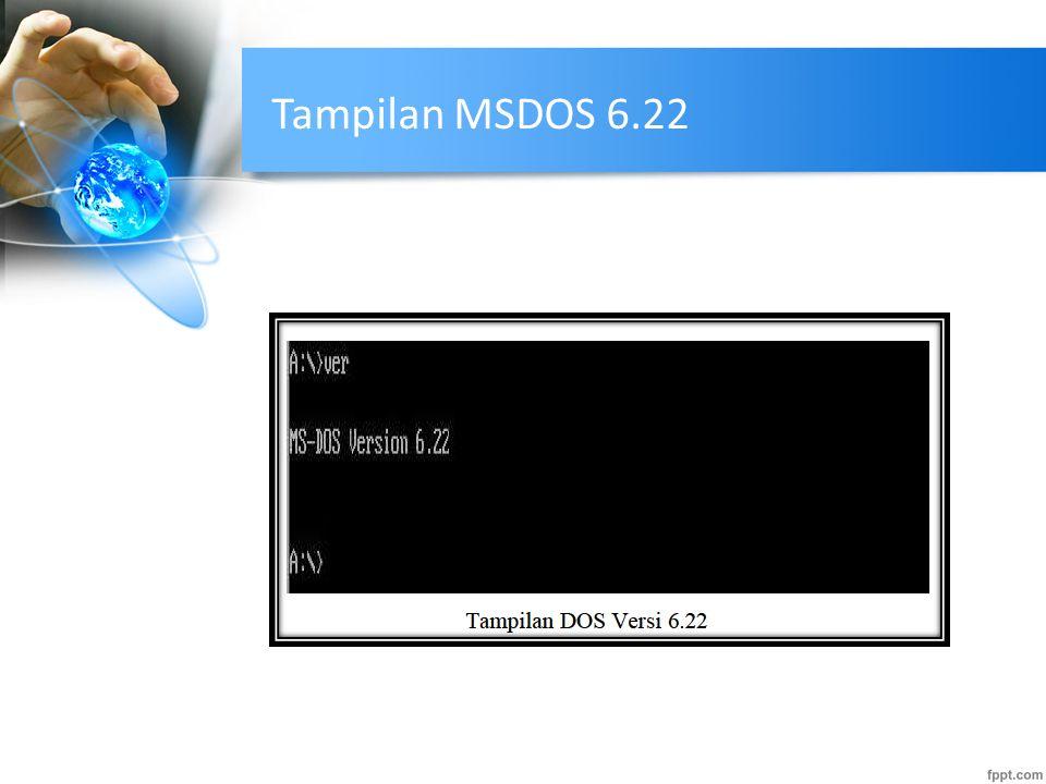 Perintah Pengoperasian MSDOS  Dalam pengoperasian DOS terdapat Command- command/ perintah yang dikelompokkan dalam 2 kelompok yaitu: 1.Internal Command, yakni perintah-perintah yang telah dimasukkan ke dalam COMMAND.COM (interpreter perintah DOS), sehingga dapat langsung dieksekusi oleh kernel DOS, di mana saja.