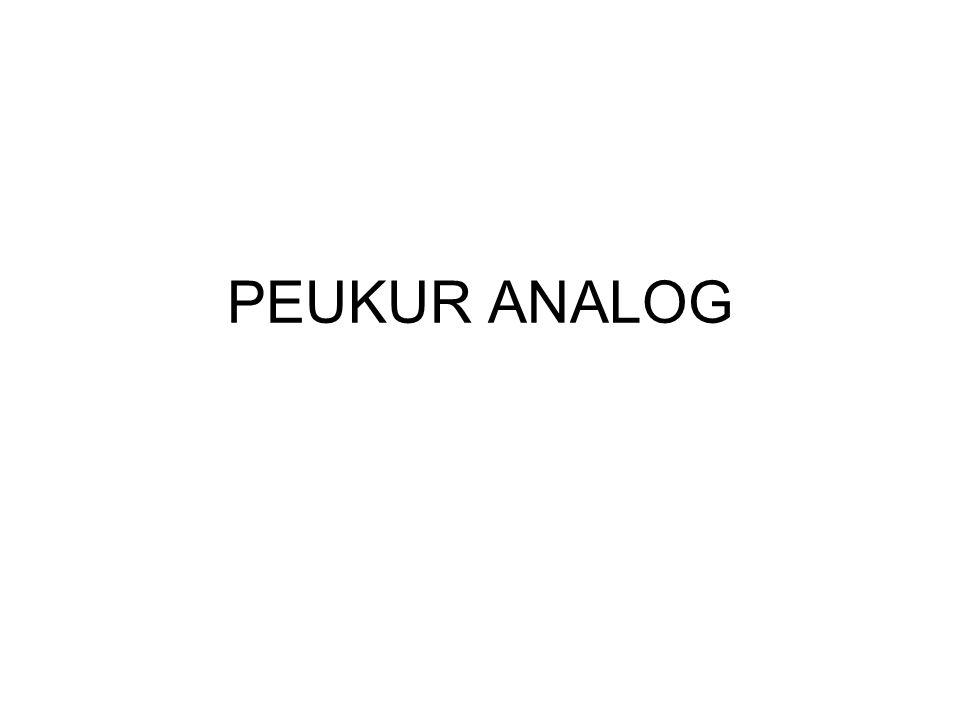 Ciri peukur Analog : Mempunyai jarum penunjuk yang bergerak pada skala ukur.