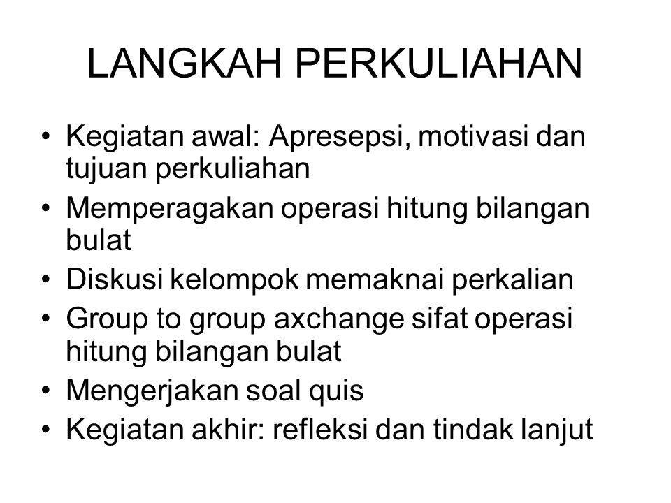 Contoh: Nyatakan (-2) + (-5) pada garis bilangan dan tentukan hasilnya Jawab: Jadi (-2) + (-5) = -7 Departemen Agama Republik Indonesia Penjumlahan bilangan bulat negatif dengan bilangan bulat negatif