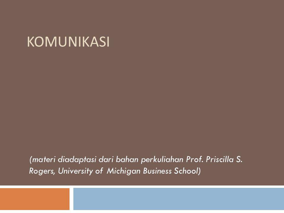 KOMUNIKASI (materi diadaptasi dari bahan perkuliahan Prof.
