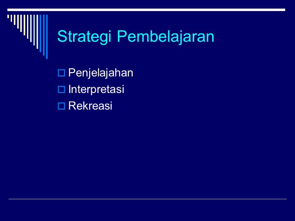Strategi Pembelajaran  Penjelajahan  Interpretasi  Rekreasi