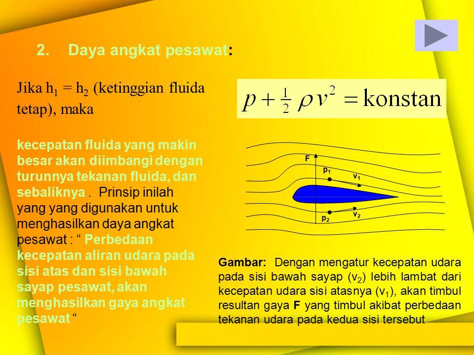 Asas Bernoulli dapat ditafsirkan sebagai asas kelestarian energi dalam fluida. Kenapa dikatakan demikian ? Tentu saja karena suku 1/2  v 2 menyatakan