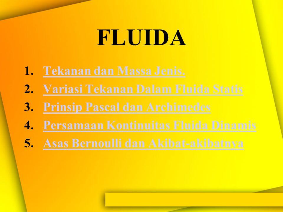 """""""Fluida""""? """"Zat yang dapat mengalir dan memiliki bentuk seperti wadah yang menampungnya"""" Atom-atom dan molekul-molekul bebas bergerak"""