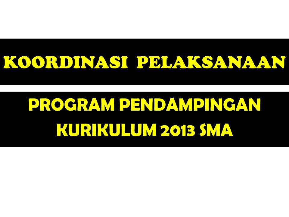 KOORDINASI PELAKSANAAN PROGRAM PENDAMPINGAN KURIKULUM 2013 SMA