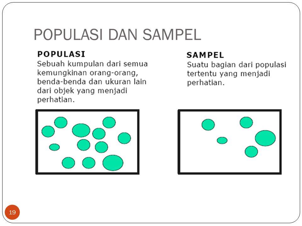 POPULASI DAN SAMPEL 19