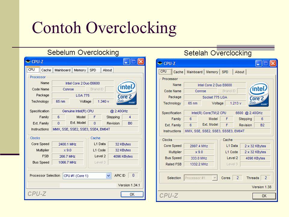 Contoh Overclocking Sebelum Overclocking Setelah Overclocking