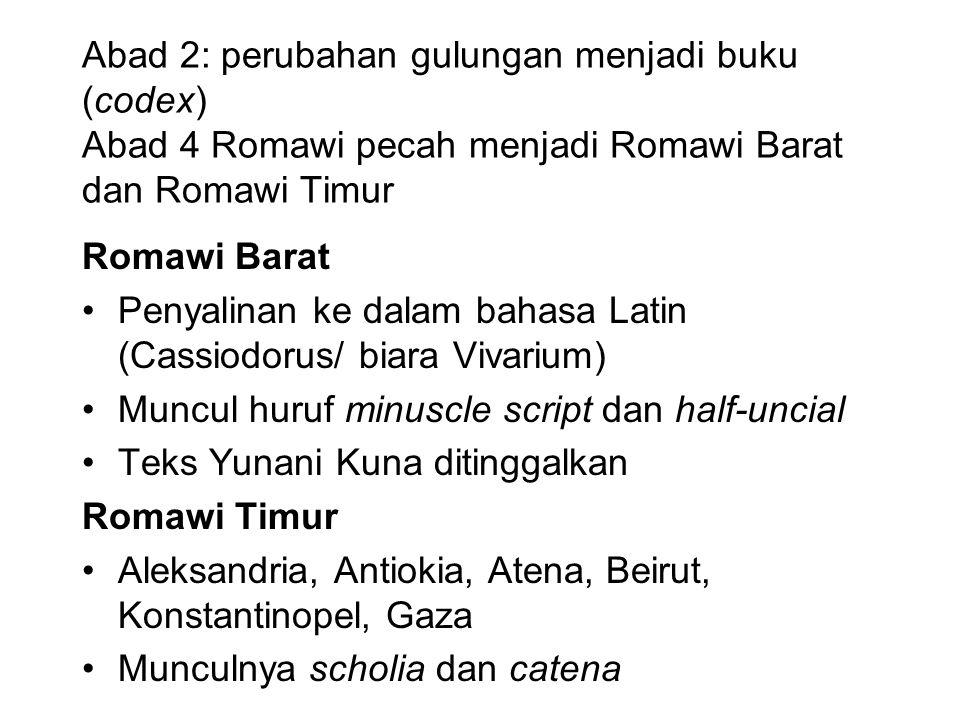 Metode Lachman (stemma) jarang diterapkan dalam filologi di Indonesia.