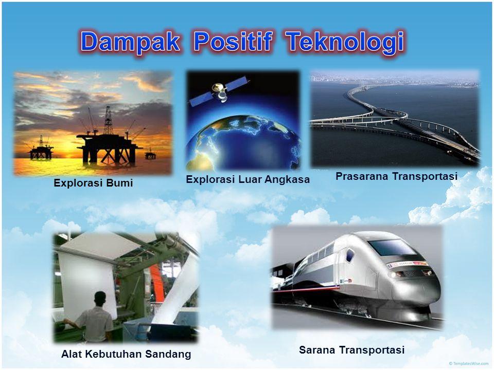 Explorasi Bumi Explorasi Luar Angkasa Prasarana Transportasi Sarana Transportasi Alat Kebutuhan Sandang