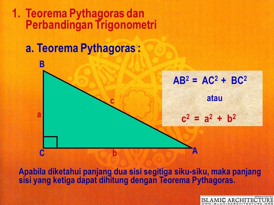 1.Teorema Pythagoras dan Perbandingan Trigonometri a.