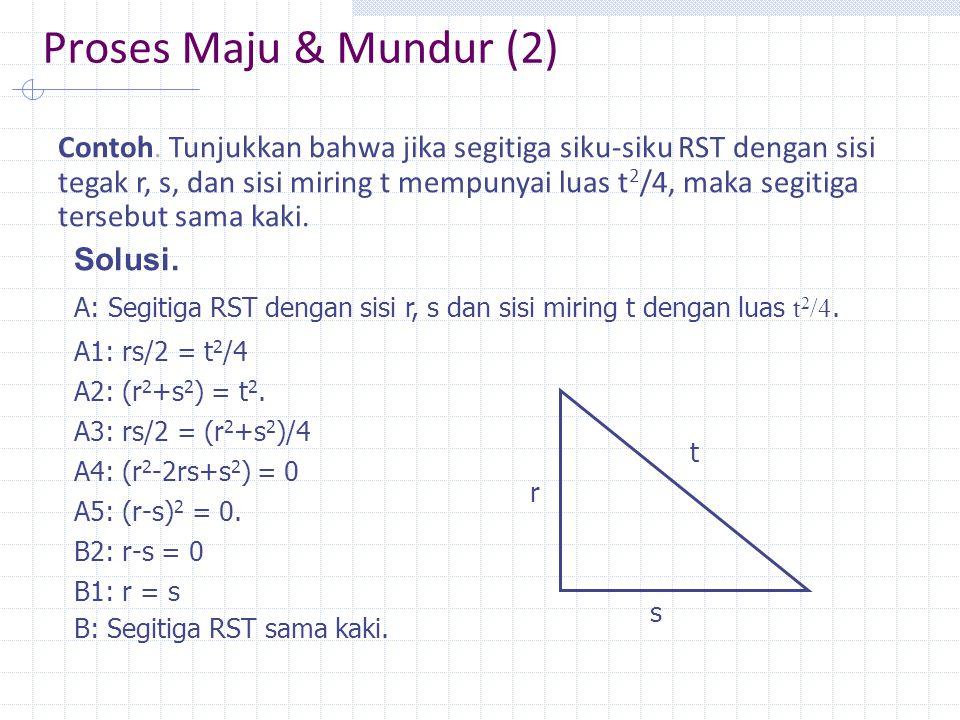 Proses Maju & Mundur (2) Contoh.