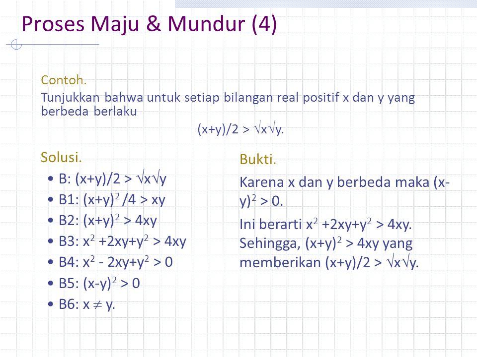 Proses Maju & Mundur (4) Contoh.