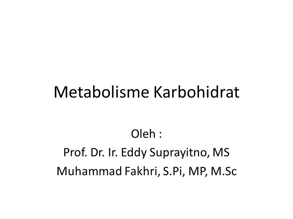 Metabolisme Karbohidrat Oleh : Prof. Dr. Ir. Eddy Suprayitno, MS Muhammad Fakhri, S.Pi, MP, M.Sc