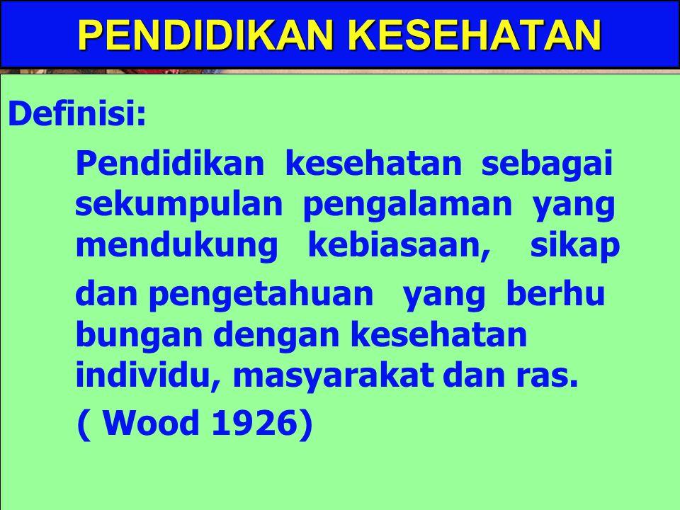 PENDIDIKAN KESEHATAN Oleh: Ignatius Warsino, SKM, M.Kes.