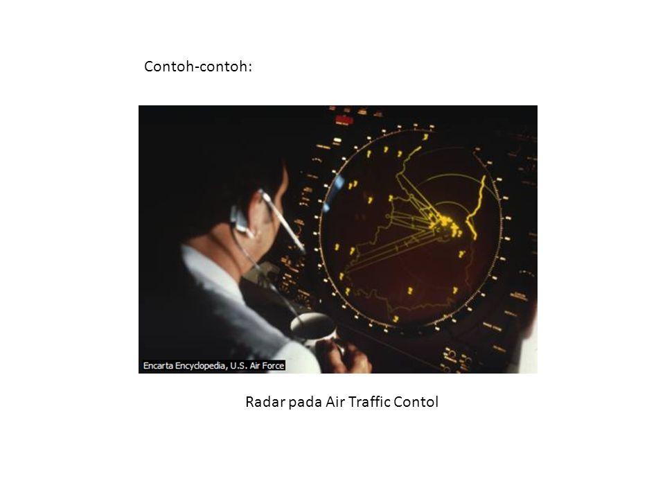 Radar pada Air Traffic Contol Contoh-contoh:
