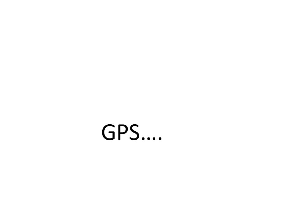 GPS….