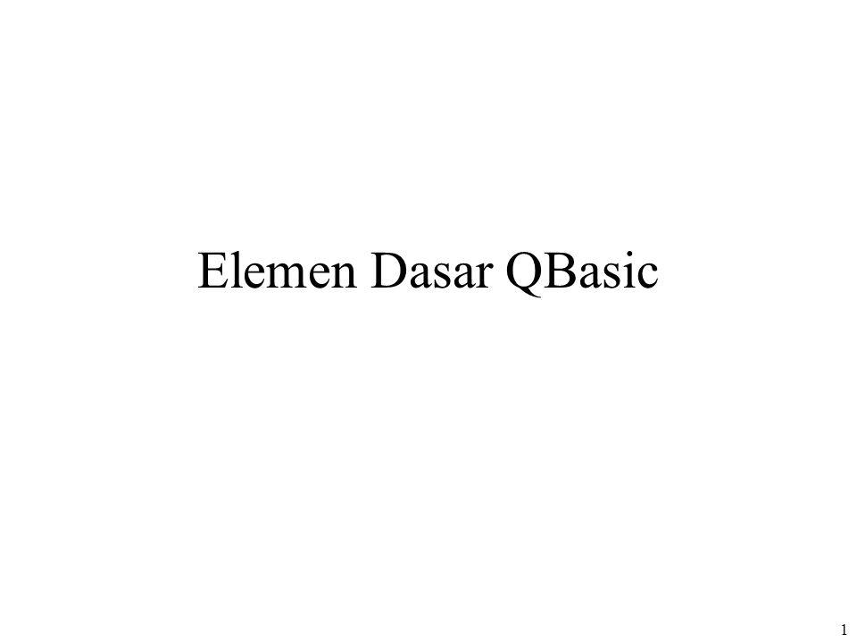 1 Elemen Dasar QBasic