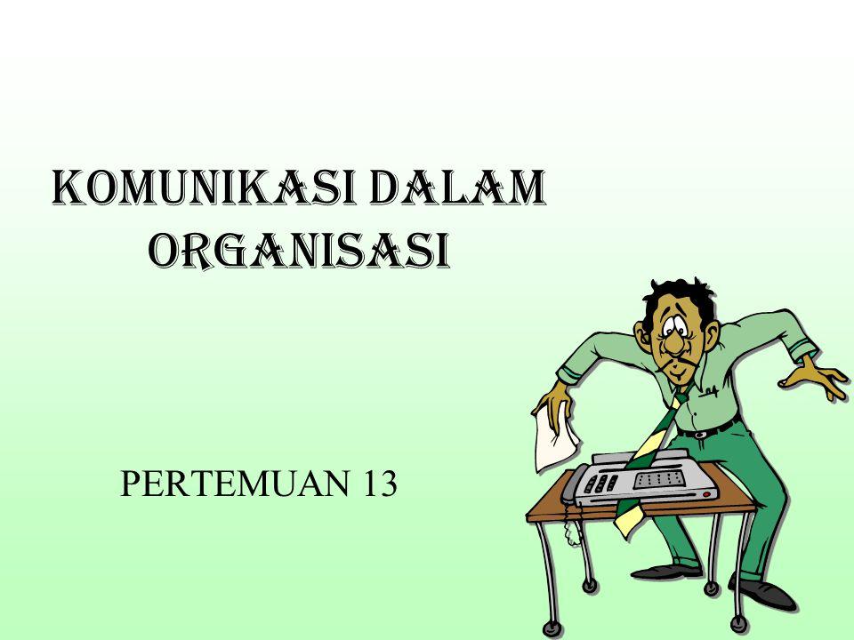 KOMUNIKASI DALAM ORGANISASI PERTEMUAN 13