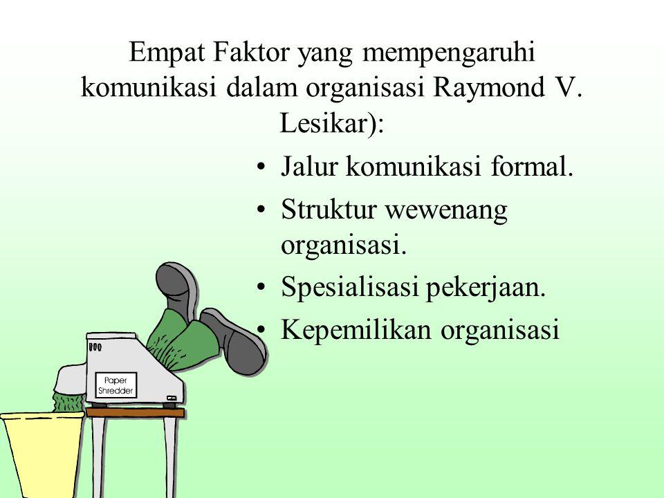 Empat Faktor yang mempengaruhi komunikasi dalam organisasi Raymond V.