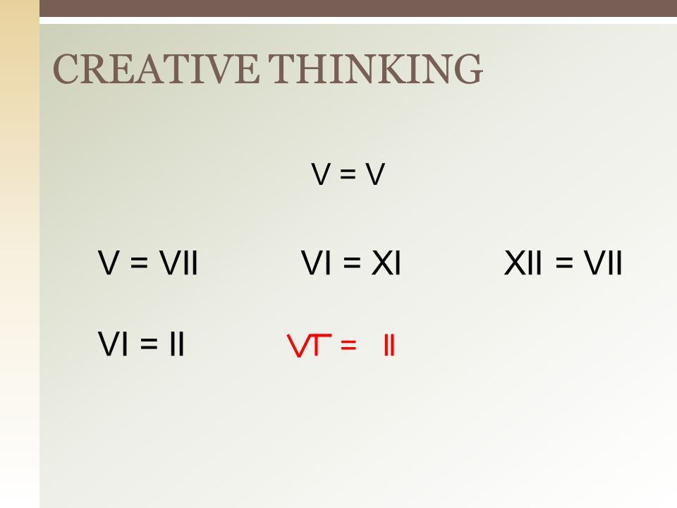 Creative Thinking Bagi bidang ini ke dalam 4 bagian yang sama besar