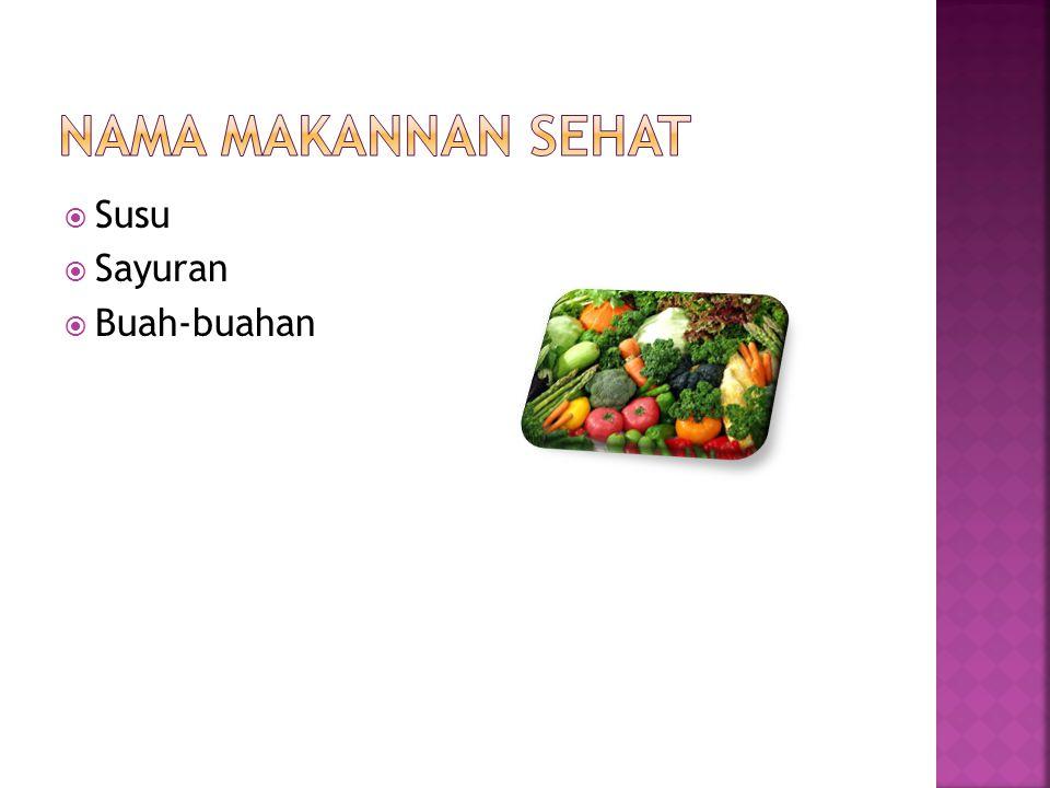  Susu  Sayuran  Buah-buahan