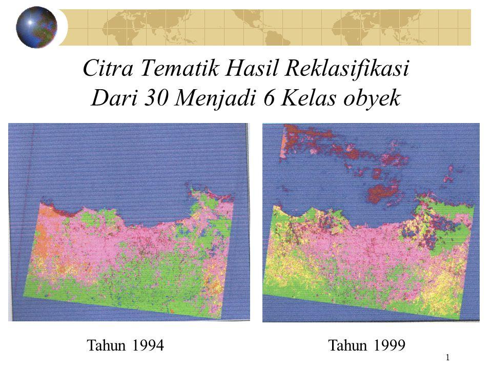 2 Citra Tematik DKI Jakarta dengan 6 Kelas Citra Tematik DKI Jakarta Obyek versus simbol warna