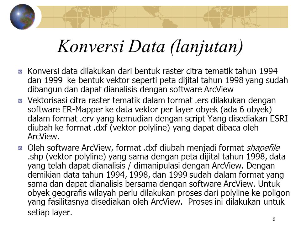 9 Layers data vektor 6 obyek