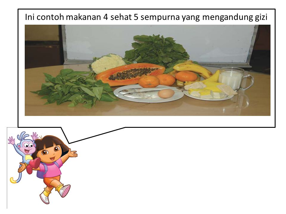 Ini contoh makanan 4 sehat 5 sempurna yang mengandung gizi