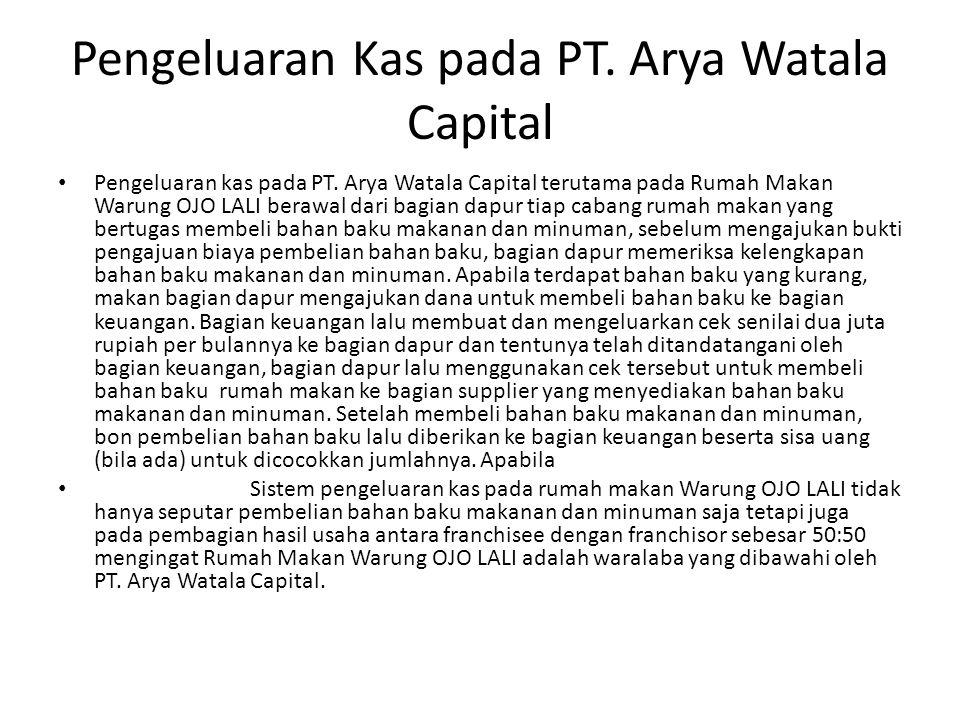 Pengeluaran Kas pada PT.Arya Watala Capital Pengeluaran kas pada PT.