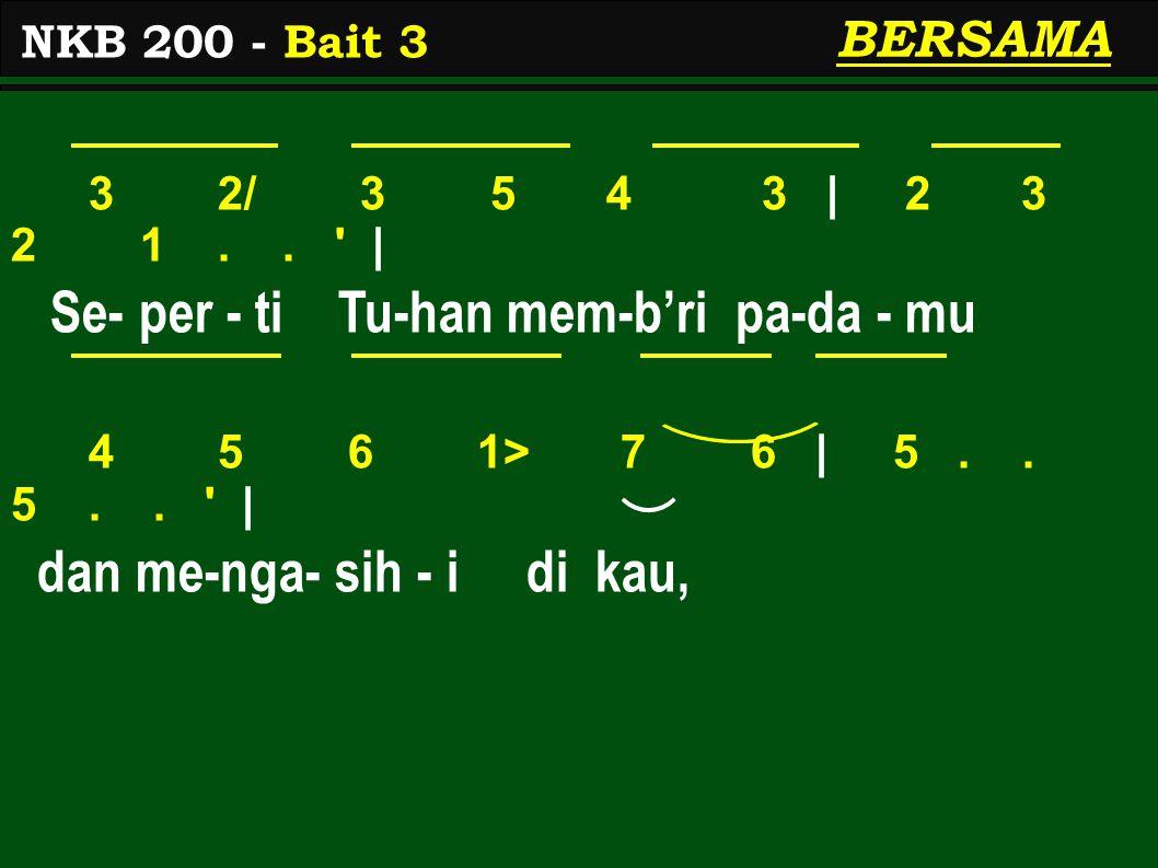 3 2/ 3 5 4 3 | 2 3 2 1.. | Se- per - ti Tu-han mem-b'ri pa-da - mu 4 5 6 1> 7 6 | 5..